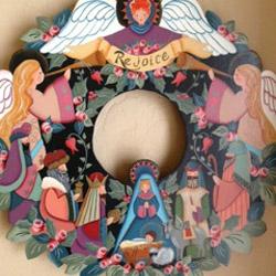 XMas Wreath Mural