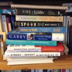 Crowded Bookshelf