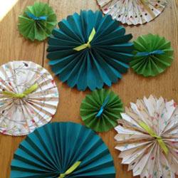 tiny paper fans