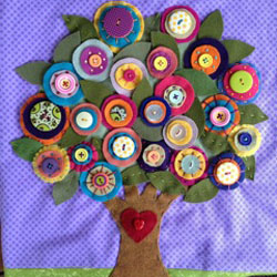 Floral Plush Tree